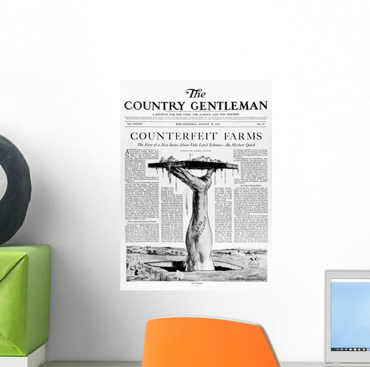 Advertisement in Country Gentleman agricultural magazine Wall Mural