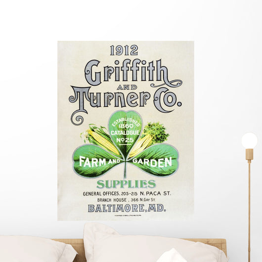 Historic Griffith and Turner Co farm and garden supply catalog Wall Mural
