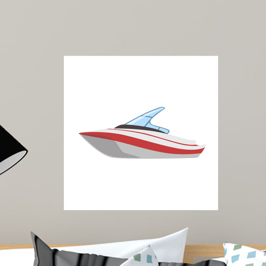 Modern Cutter Type Boat Wall Decal