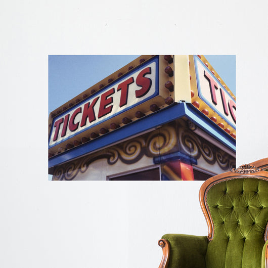 tickets sign Wall Mural