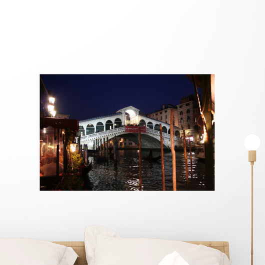 Venice by Night - Rialto Bridge Wall Mural