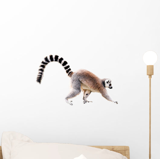Walking Lemur Wall Decal