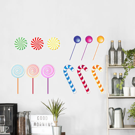 Twelve Candies Candy Wall Decal Sticker Set