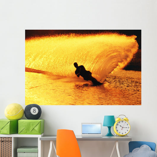 Man Waterskiing Wall Mural