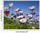 white red and purple flower field Wall Mural