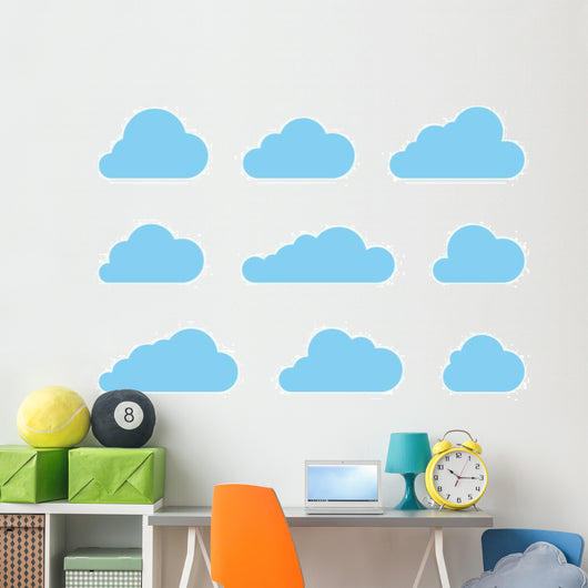 Cloud Shapes Wall Decal