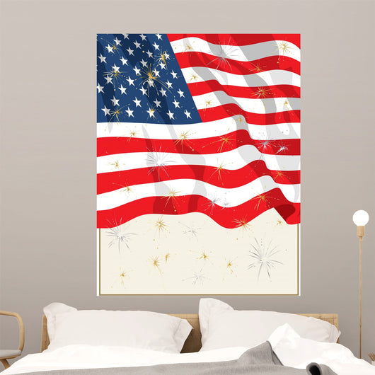 July 4th Flag Wall Mural