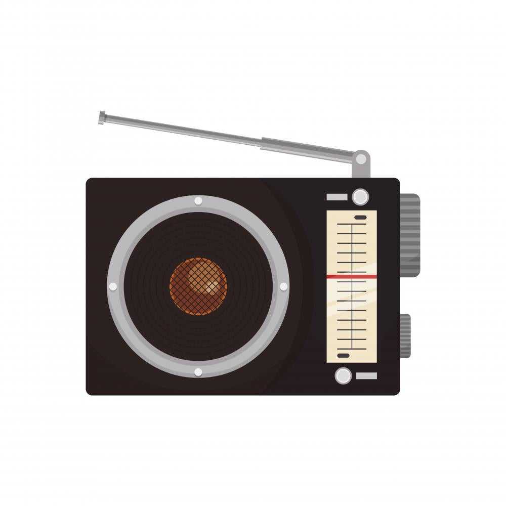 Antique Radio Stereo Icon Wall Decal Wallmonkeys Com