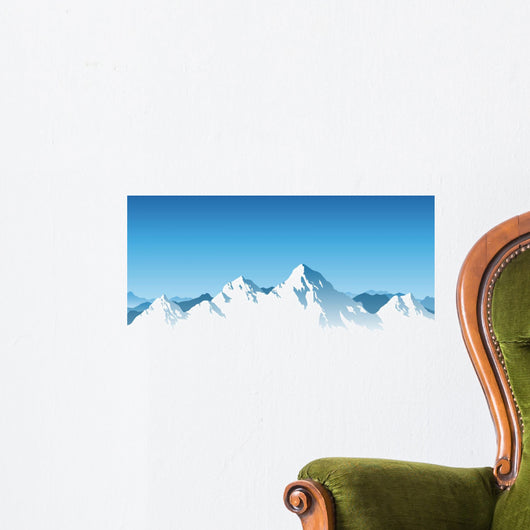 Swiss Mountais by Candeias Wall Decal