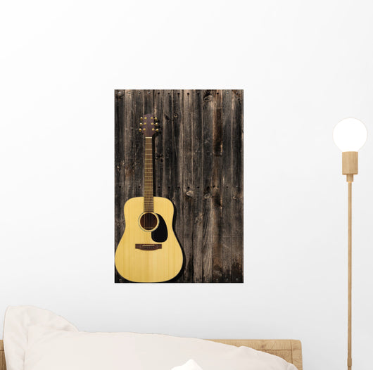 Guitar and Wall Wall Mural