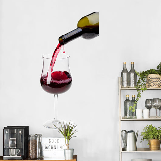 Pouring red wine into a glass Wall Decal