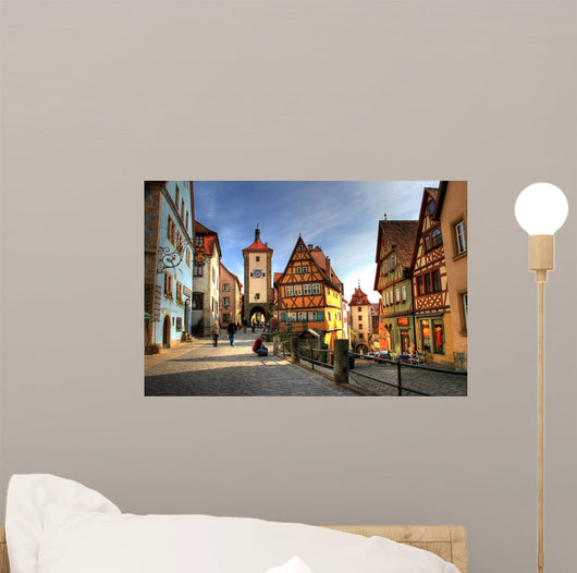 Rothenburg ob der Tauber - Medieval city in Germany Wall Mural