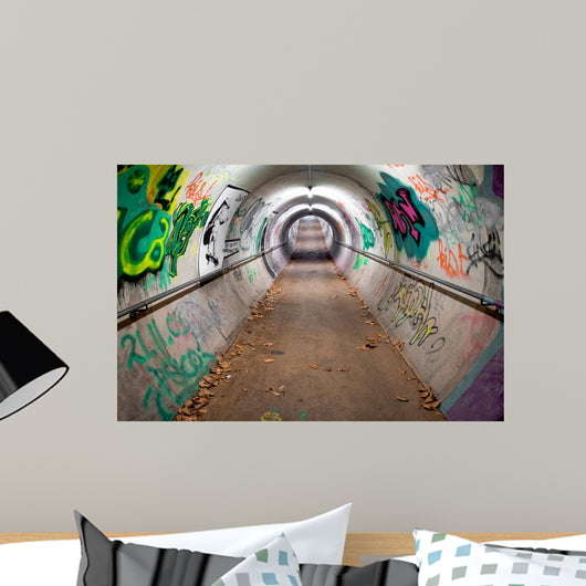 Long Pedestrian Tunnel Covered Wall Decal