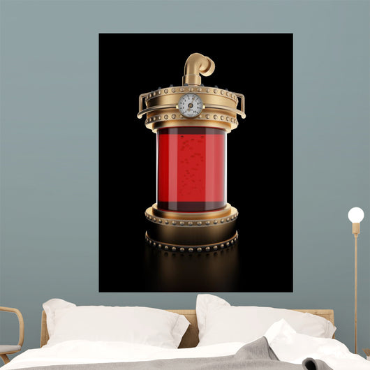 Steampunk Laboratory Bottle Wall Decal