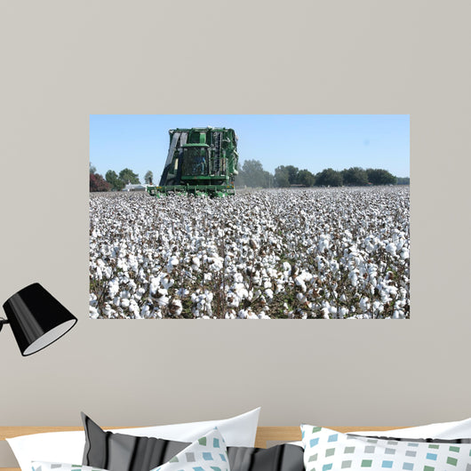 Cotton Picking Wall Decal