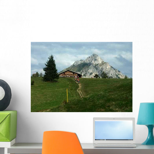 Cottage Mountain Wall Decal