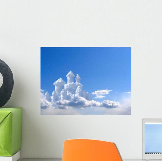 Fantasy Castle Clouds Wall Decal