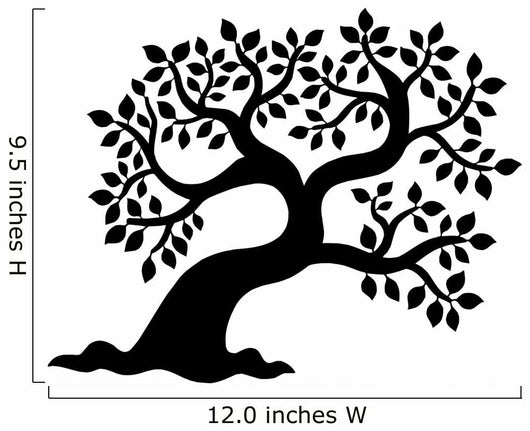 Leafy Tree Silhouette Wall Decal