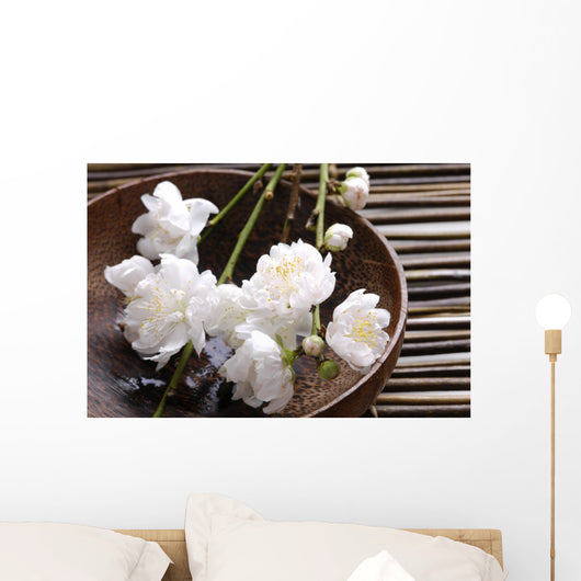 Bowl Cherry Blossoms Bamboo Wall Decal