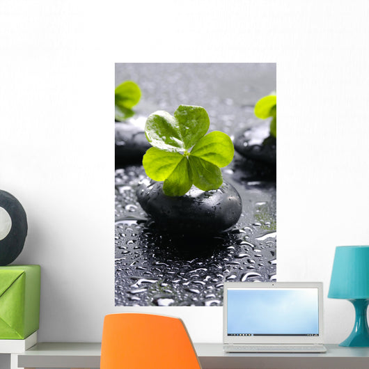 Zen Stones and Clover Wall Decal