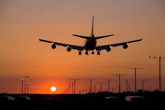 Sunset Jet Landing Wall Decal Design 2