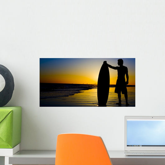 Surfing Silhouette Wall Decal