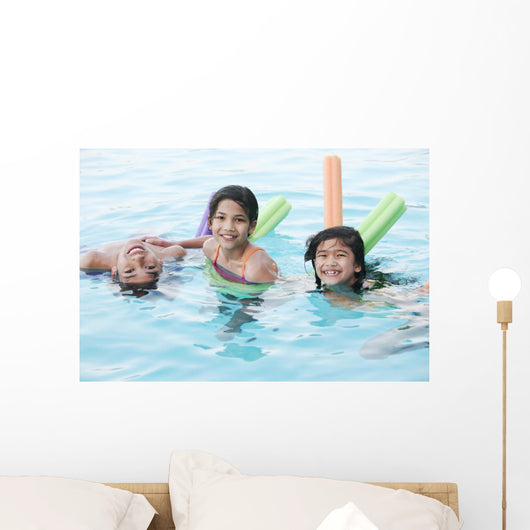 Kids Swimming Wall Decal