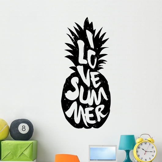 I Love Summer Pineapple Wall Decal