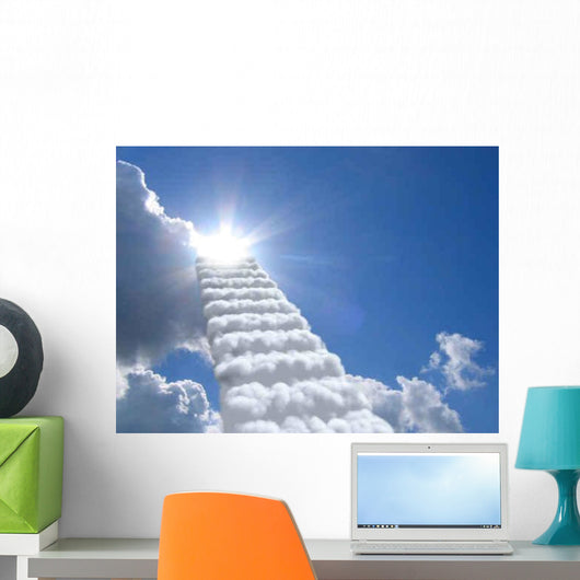 Stairs Sky Clouds Concept Wall Decal Design 2