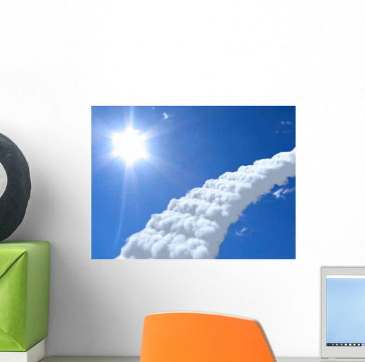 Stairs Sky Clouds Concept Wall Decal Design 1