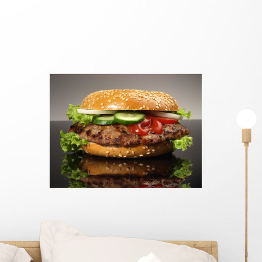 Hamburger Bagel Wall Decal