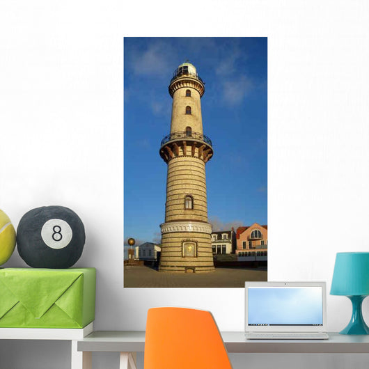 Warnem Nde Lighthouse Wall Decal