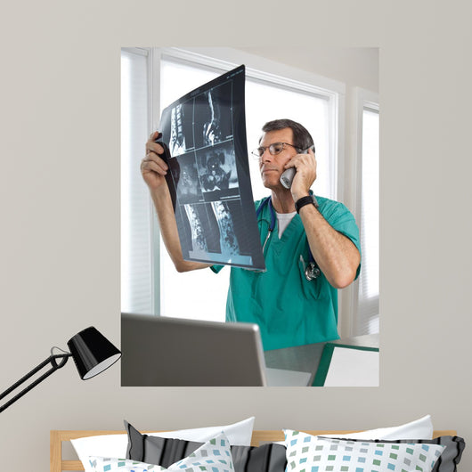 Doctor Phone Discussing Patient's Wall Decal