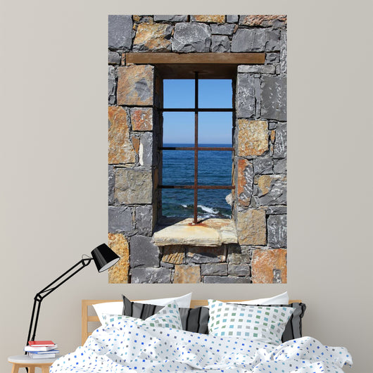 Window to Sea Wall Decal