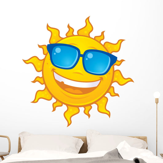 Sun Wearing Sunglasses Wall Decal