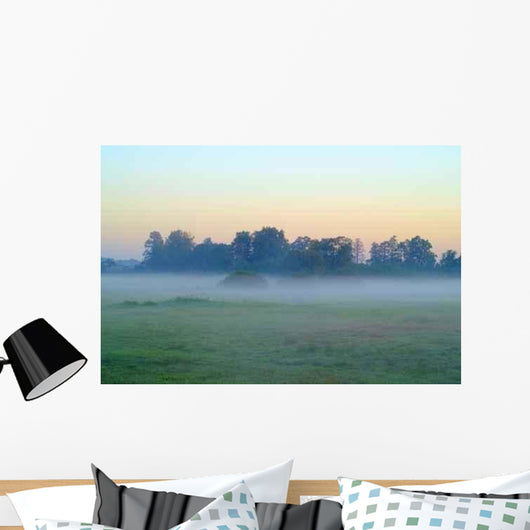 Fog over Meadows Wall Decal