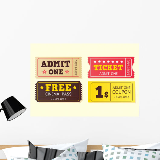 Movie Theater Tickets Wall Decal
