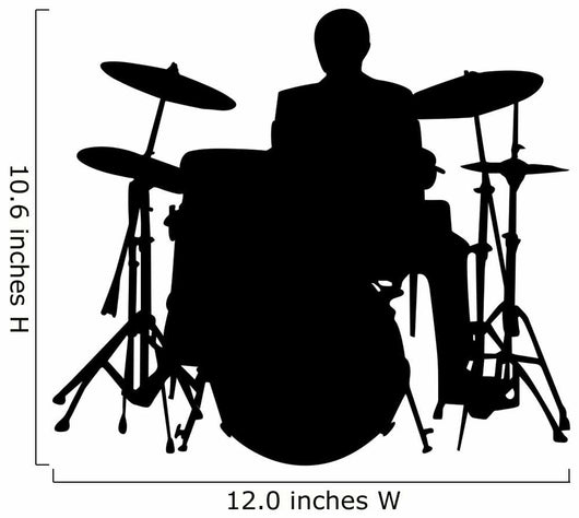 Drummer Wall Decal