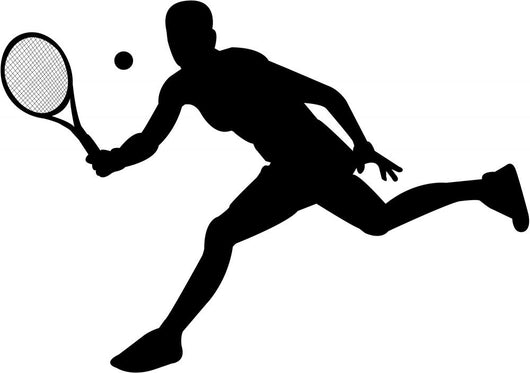Tennis Player Wall Decal Design 1