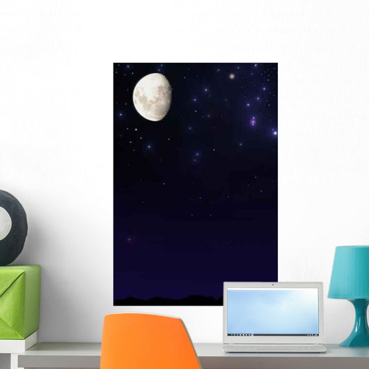 Moon Night Sky Wall Decal