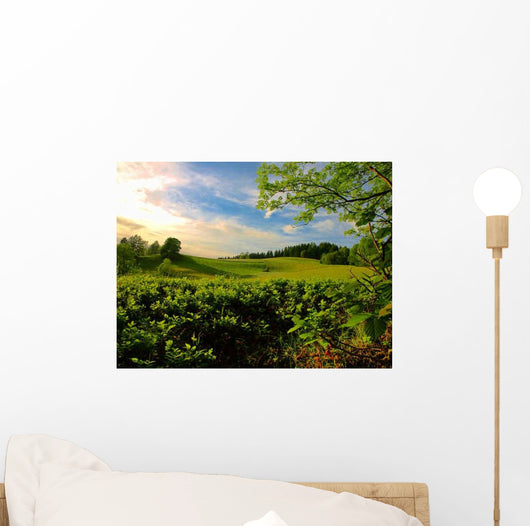Green Pastures Wall Decal