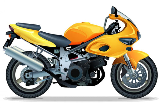 Yellow Motorcycle Wall Decal