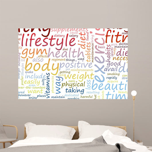 Health and Fitness Wall Decal