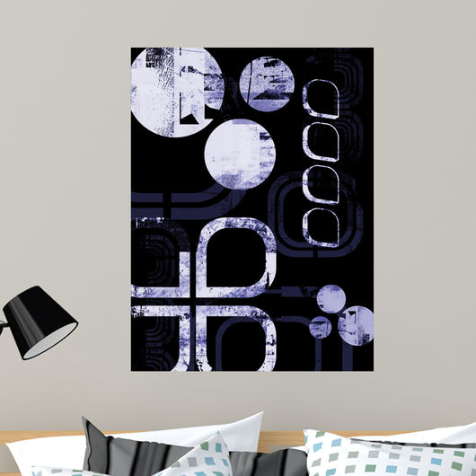 Blue Grunge Layout Wall Mural