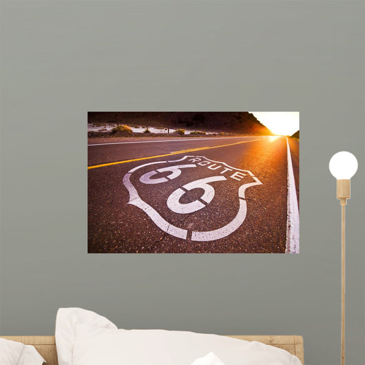 Route 66 Sunset Wall Decal