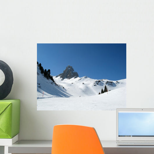 Skiing Wall Decal