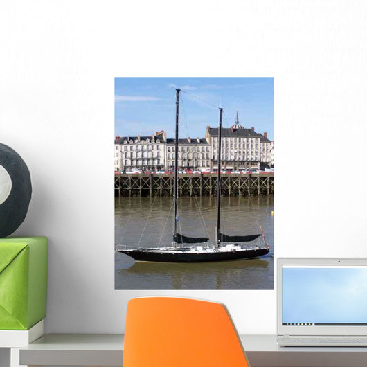 Nantes Right Bank Quay Wall Decal