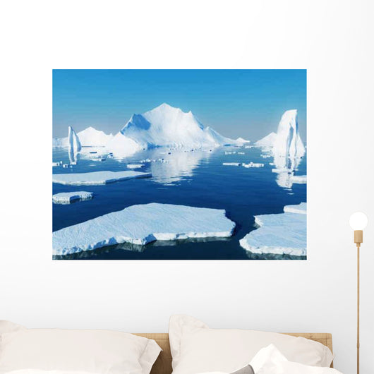 Icebergs Wall Decal