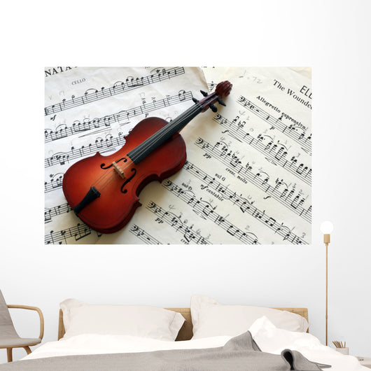Cello with Music Wall Decal