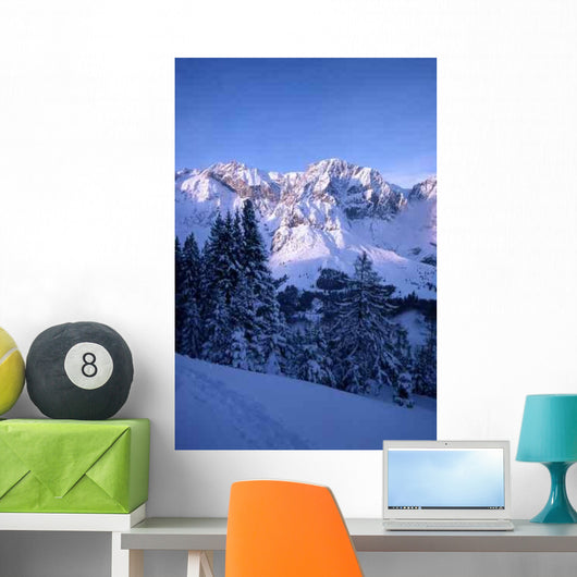 Snowy Mountain Wall Decal Design 2